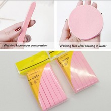 Cosmetic Puff 12Pcs Portable Compressed Facial Cleansing Sponge Cleanser Washing Pad Remove Makeup Skin Care
