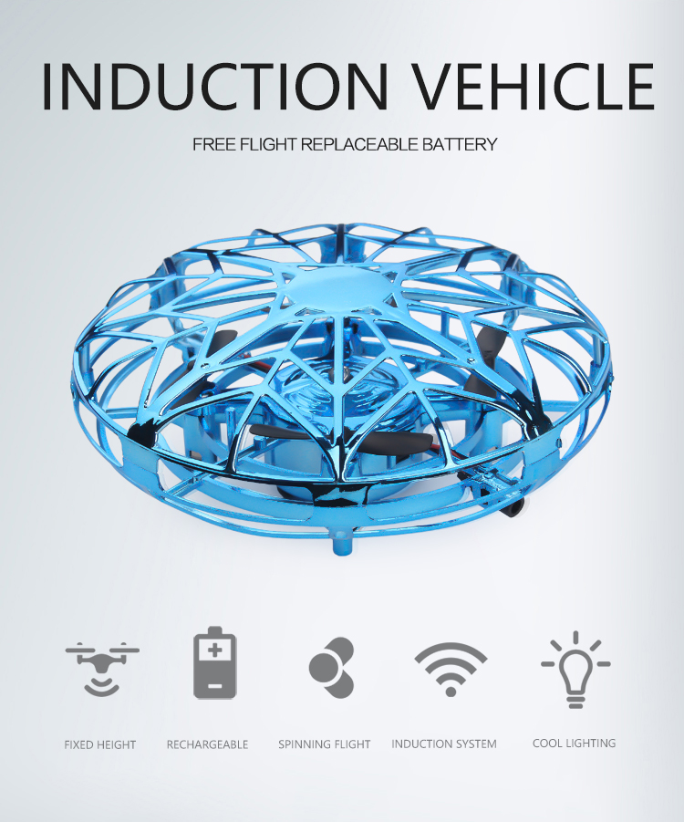 2020 New Mini Drone UFO Hand Operated RC Quadrocopter Dron Infrared Induction Aircraft Flying Ball Toys For Kids Helicopters