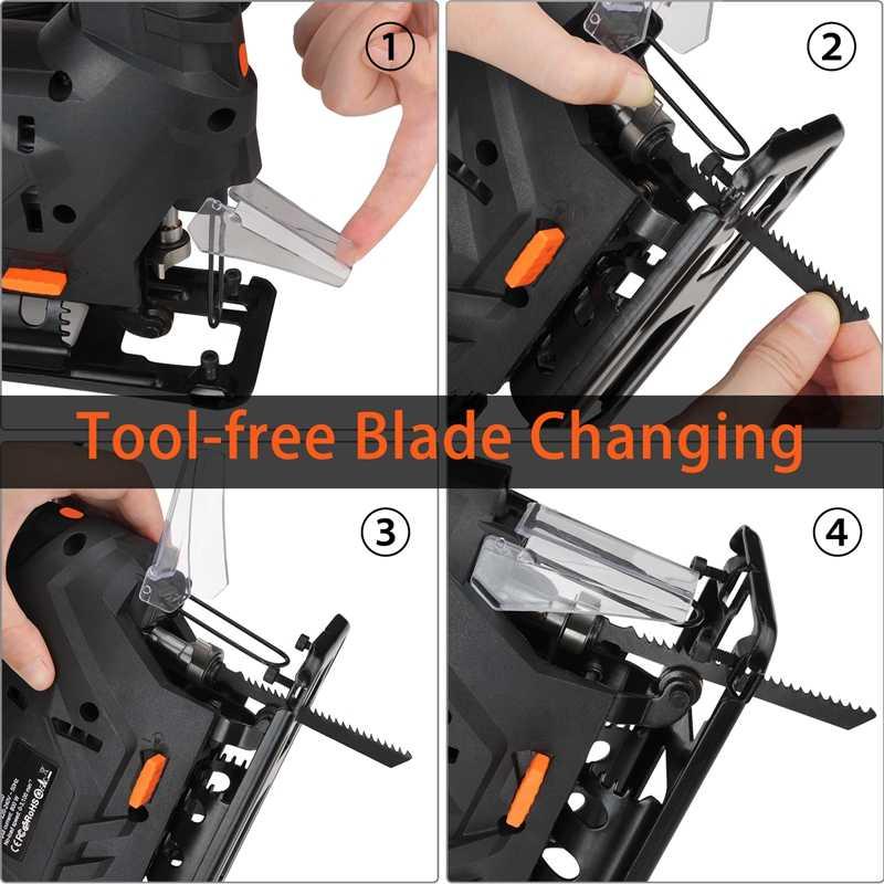 Lomvum 800W Laser Jigsaw Listrik 5 Variale Kecepatan Jia Melihat untuk Kerajinan Kayu Listrik Melihat 110V/220V pemotong Kayu Logam Aluminium