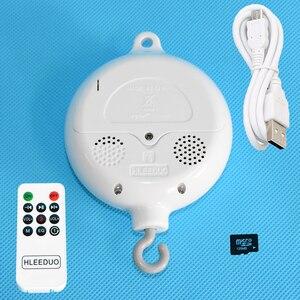Поворотный Детский мобиль для кроватки, Музыкальная шкатулка на батарейках, мобиль для детской кроватки, 35 песен