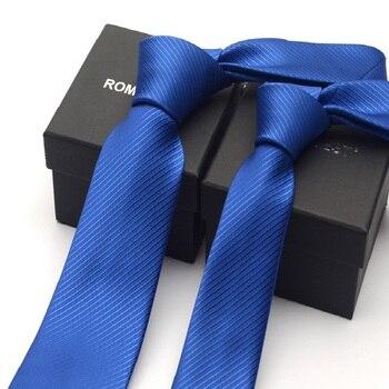2020 Brand New Men's High Quality Fashion 8CM 6CM Slim Royal Blue Necktie Romantic Wedding Formal Neck Tie for Men with Gift Box