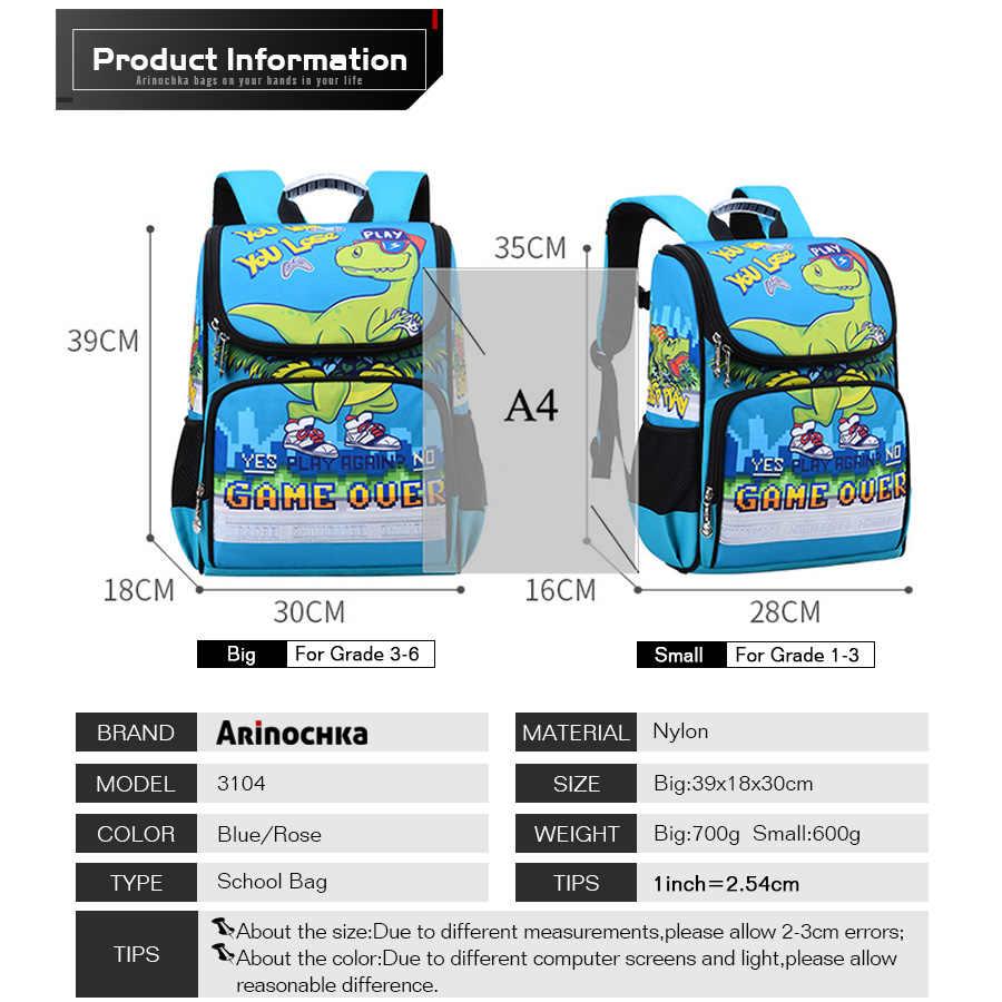 Nadruk zwierzęta torby szkolne dzieci jednorożec plecaki dla dziewcząt chłopcy torba 3D dinozaur przedszkole dla dzieci plecak szkolny Flamingo