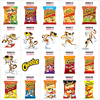 Acrylic Resins New American Cheetos Snacks Pattern Planar Resin Printed for Crafts Accessories Decoration 30pcs/lot