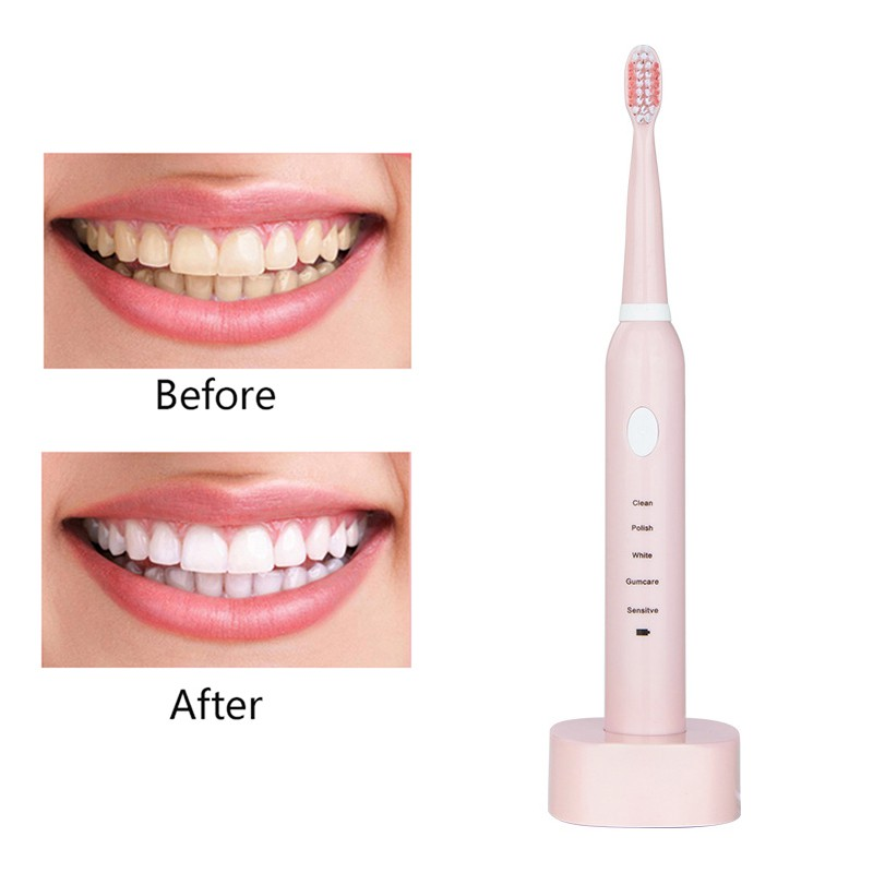 5 Cleaning Modes New Charging Electric Toothbrush Oral Hygiene Cleaning Whitening Waterproof Sonic Vibration Electric Toothbrush image