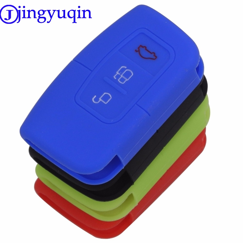 Jingyuqin New Arrival 3 Buttons Remote Silicone Car Fob Smart Key Case Cover For Ford
