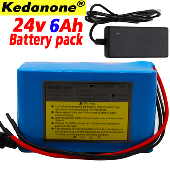 100% New 24V 6Ah 6S3P 18650 Battery Lithium Battery 25.2v 6000mAh Electric Bicycle Moped /Electric/Li ion Battery Pack+Charger