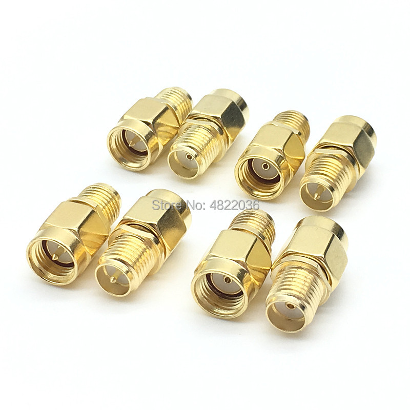 2pcs connector RF coaxial coax adapter SMA male female RP SMA to SMA male RP-SMA Connector