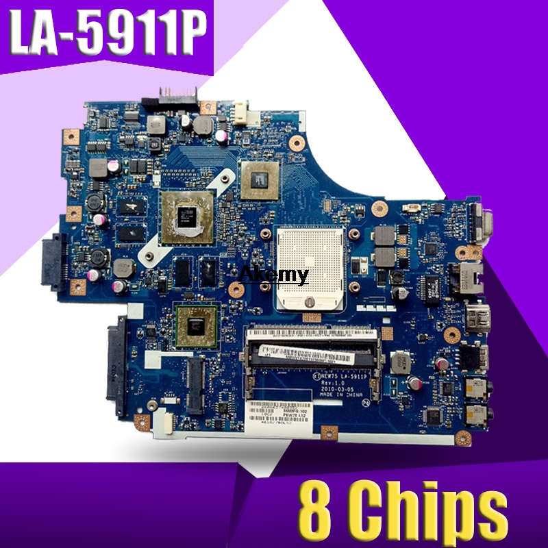 The Laptop Motherboard For For ACER ASPIRE 5551G 5552G MBR4302001 NEW75 LA-5911P REV:1.0 With Graphic Card 8 Chips