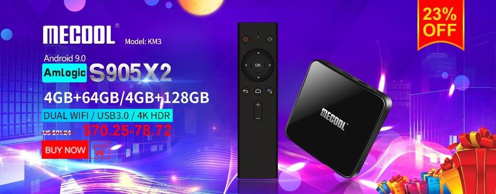 Mecool KM9 4G 32G TV Box Android 9.0 Amlogic S905X2 USB3.0