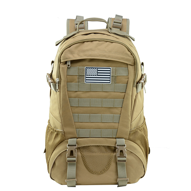Tractical Backpack With Space For Velcro Outdoor Sports Camouflage Hiking Trekking Bag Mesh Side Pocket wholesale