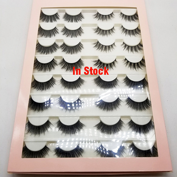 16 Pairs Multipack 3D Mink Hair False Eyelashes Natural Wispy Fluffy Long Lashes Natural Eye Makeup Tools Faux Eye Lashes