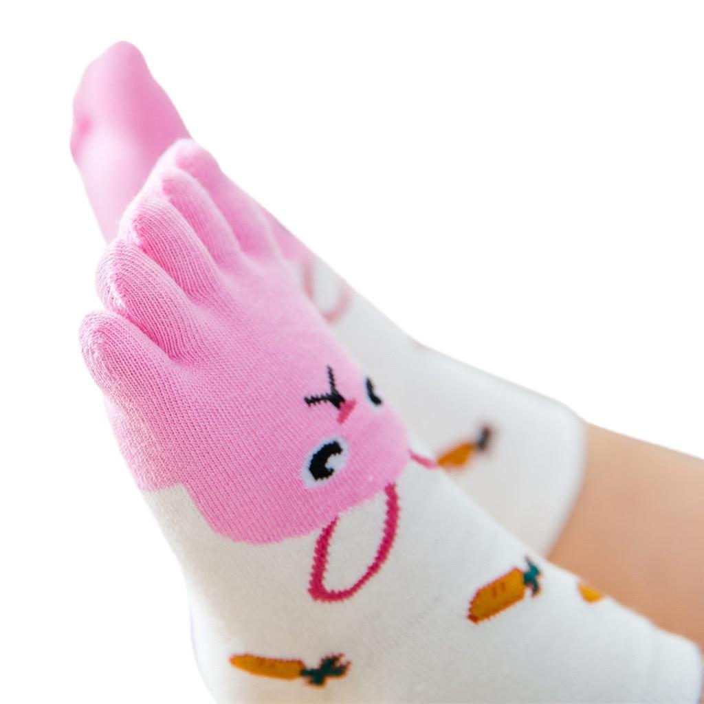 Baby Foot Socks Novelty Toddler Baby Kids Girls Boy Cartoon Animal Five Fingers Anti Slip Cotton Socks Winter Shoes For Baby