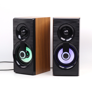 Image 2 - Music Speakers USB Wired Mini Computer Speakers Bass Stereo Wooden PC  Home Speaker 3.5mm AUX For Laptop Desktop Smart Phones