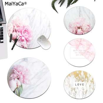 Maiyaca White Marble Stone with Peony Flower Natural Rubber Gaming mousepad Desk Mat Laptop PC Mice Pad Mat gaming Mousepad maiyaca hot sales anime steins gate natural rubber gaming mousepad desk mat large lockedge mousepad laptop pc computer mouse pad