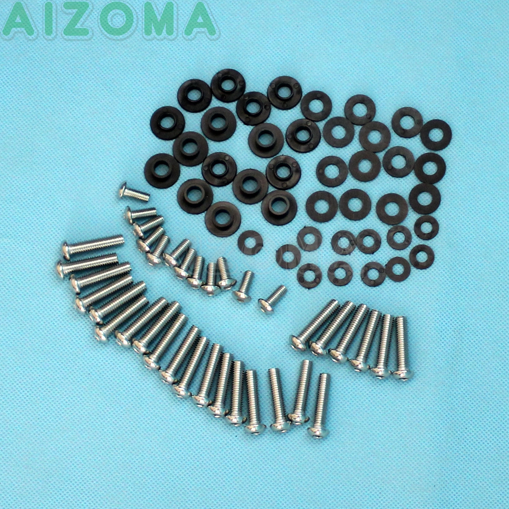 78 Pieces Motorcycle Full Bodywork Hardware Complete <font><b>Fairing</b></font> Bolt & Screws Nut Install Kit For <font><b>Yamaha</b></font> YZF-<font><b>R1</b></font> YZF <font><b>R1</b></font> 2002 <font><b>2003</b></font> image