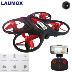 LAUMOX KF608 Mini RC Drone With 720P Camera Wifi FPV Drone Altitude Hold Headless Mode 3D Roll Speed Switch RC Quadcopter Drones