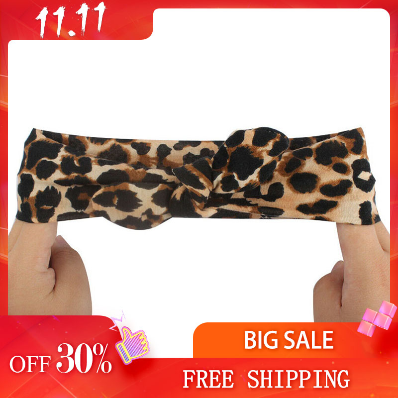 Newborn Kids Girls Leopard Headband Baby Toddler Turban Bow Knotted Hair Band Headwear Cute Lovely Gifts Party Accessories New