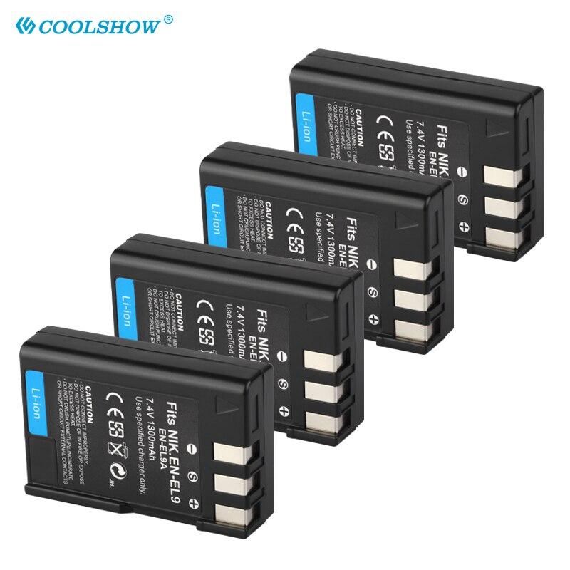 EN-EL9 EN EL9a EL9 Batterie 1300mAh Batteries pour Nikon EN-EL9a D40 D60 D40X D5000 D300 L15 Caméra Batterie