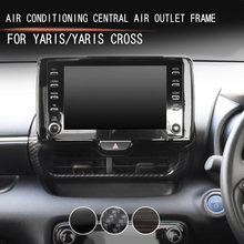 Car air conditoning central air outlet frame frame for Toyota YARIS YARIS CROSS 2020 2021 Modified decorative parts