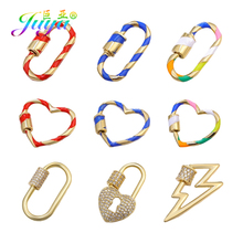 Juya DIY Punk Jewelry Accessory Screw Lock Bolt Clasps