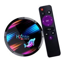H96 最大 2.4 グラム + 5 グラムアンドロイド 9.0 スマート Tv ボックス環境保護 Amlogic S905X3 クアッドコア 4 ギガバイト 64 ギガバイト/128 ギガバイト WIFI セットトップボックス