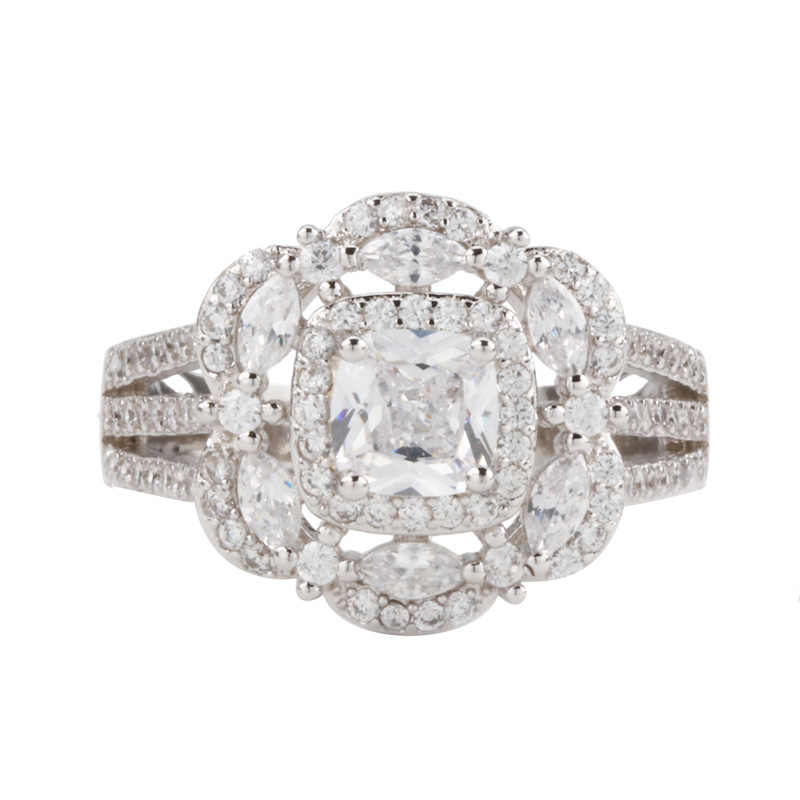 925 splitter VVS1 Diamant Ring für Frauen Platz Horse Eye Form Übertreibung Frau Bizuteria Weiß Topas Edelstein Jewerly Ringe