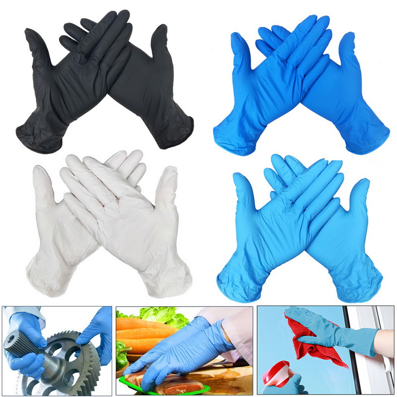 50Pcs Disposable Latex Gloves Universal Household Cleaning Garden Gloves Laboratory Rubber Nitrile Gloves For Left Right Hand