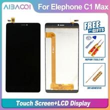 جديد الأصلي Elephone C1Max 1280X720 شاشة الكريستال السائل + شاشة تعمل باللمس الجمعية إصلاح جزء 6.0 بوصة المحمول ل Elephone C1 ماكس