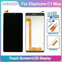 Novo original elephone c1max 1280x720 display lcd + montagem da tela de toque parte reparo 6.0 polegada móvel para elephone c1 max