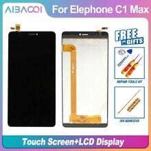 Nowy oryginalny wyświetlacz LCD Elephone C1Max 1280X720 + zespół ekranu dotykowego część naprawcza 6.0 cala telefon komórkowy dla Elephone C1 Max