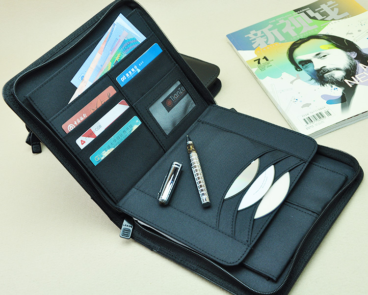Business A5 Leather Document Bag Brief Case Portfolio Canvas A5 File Folder With Zipper Refill Journal Planner Notebook Gift 783