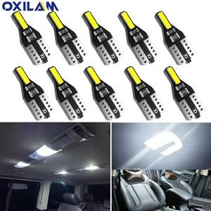 10PCS T10 W5W LED Car Interior Light 12V 168 194 Reading Lights For Audi A3 A4 B6 B8 A6 C6 80 B5 B7 A5 Q5 Q7 TT 8P 100 8L C7 8V(China)