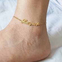 Name-Anklets Leg-Jewelry Ankle-Bracelet Custom Stainless-Steel Personalized Women