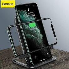 Chargeur rapide Baseus 15W Qi support de chargeur sans fil pour iPhone Huawei Android chargeur de support de téléphone sans fil avec câble usb