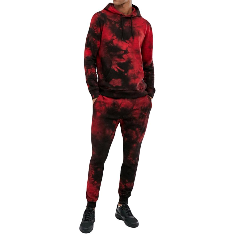 Cloudstyle Men Sportswear Suit Cotton Hoodie Male Gym Fitness Training Hoodie Pants Sets Jogging Clothing Sports Suits