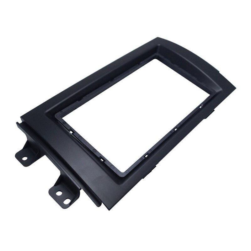 Автомобильный аудио установка рамка DVD панель приборная панель комплект навигации РЕМОНТ панель кронштейн Радио Рамка 2 DIN для Suzuki SX4 - Название цвета: black