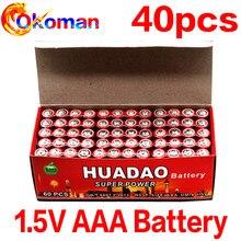 40 pces 1.5 v aaa bateria de carbono seco pilas aaa 1.5 v bateria r03 r3c para câmera calculadora despertador controle remoto um4