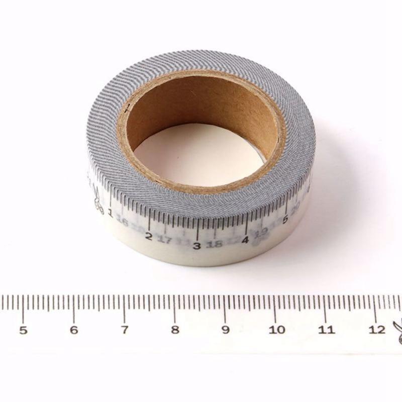 10 шт./лот декоративная линейка для измерения, васи ленты, японская бумага «сделай сам», скрапбукинг, планировщик, клейкая Маскировочная лент...