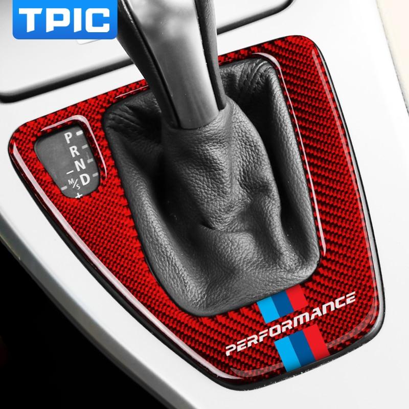 For BMW e90 e92 e93 Car Interior Carbon Fiber Gear Shift Panel M Performance Trim Car stickers and decals For 3 series 2005-2012