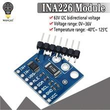 Ina226 iic interface bi-direcional atual/módulo sensor de monitoramento de energia 226 0.01ohm 0.1ohm
