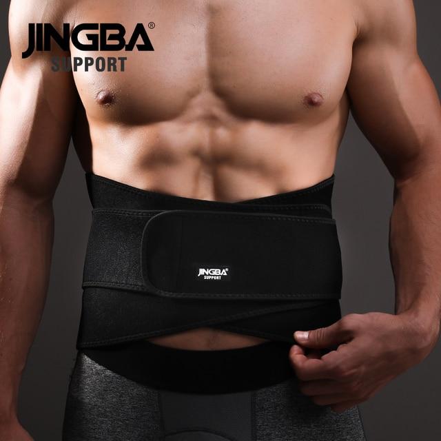 JINGBA SUPPORT Weightlifting Back Support bar Protective gear Sport waist support belt Neoprene waist trimmer fitness sweat belt 2