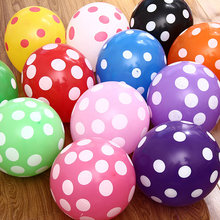 10pcs/lot Colorful Latex Polka Dot Balloons Air Globos Christmas Party Birthday Presents Wedding Decorations