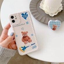 Ins Cute Cartoon Cares Bears Korean Phone Case For