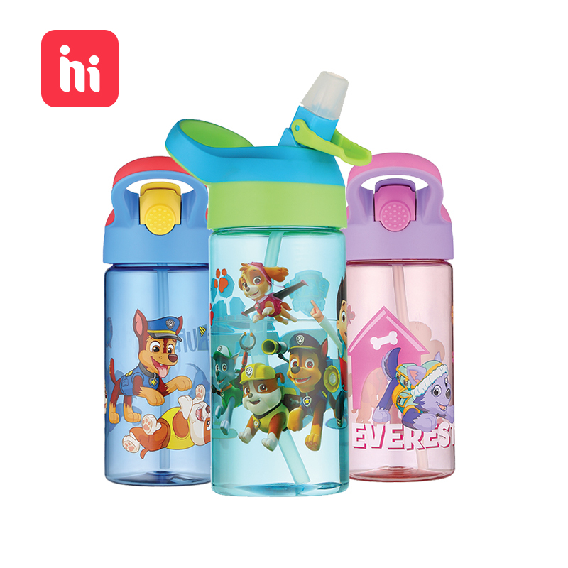 Real PAW Patrol High-capacity Cartoon Water Cup Children Hand Carried Portable Travel Water Bottle Safety TRITAN Plastic Materia