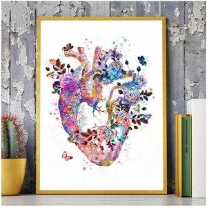 Сердце, человеческие органы, медицинская анатомия, сделай сам, алмазная живопись, полный круглый стикер, дрель, вышивка крестиком, медицина, ...