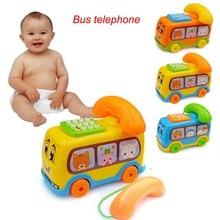 Kawaii Baby Toys Music Cartoon Bus Phone Educational Developmental Kids Toy Gift Home Early Education Entertainment toys