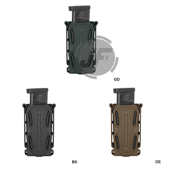 Tactical Soft Shell Magazine Pouch 9mm Single Stack 45 Caliber Pistol Magazine Carrier w/ Duty Belt Loop 1