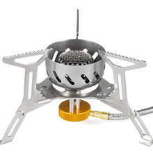Gas-Burner Spark Stove Camping Windproof Gas Outdoor Cooking Hiking Propane Stainless Steel FMS-121 2900W