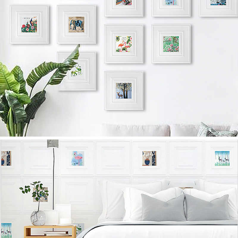 Kaguyahime DIY pegatinas de pared plantas de espuma póster impresión auto-adhesivo imágenes arte decoración hogar Decoración 8mm grosor papel tapiz