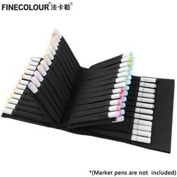 FINECOLOUR Marker Pen Case Large Zipper Bags for Art Marker Fineliner Organized Portable Convinient  Pencil Case Art Supplies